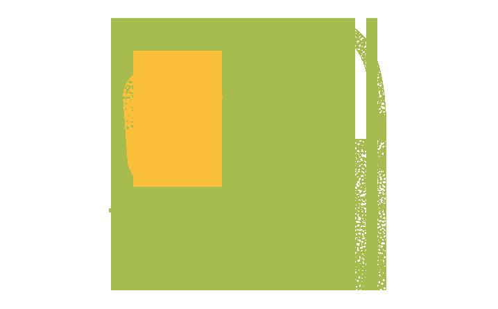 Pictogramme qui représente un bocal, un plat et un sac à bandoulière