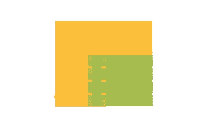 Pictogramme qui représente une fourche en appui sur un bac à compost