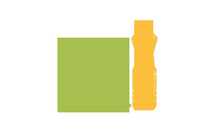 Pictogramme qui représente une bouteille et un torchon