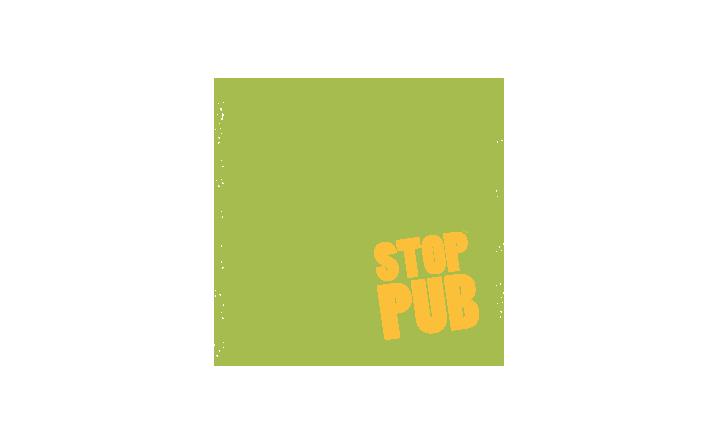 Pictogramme qui représente une boîte aux lettres avec un autocollant STOP PUB