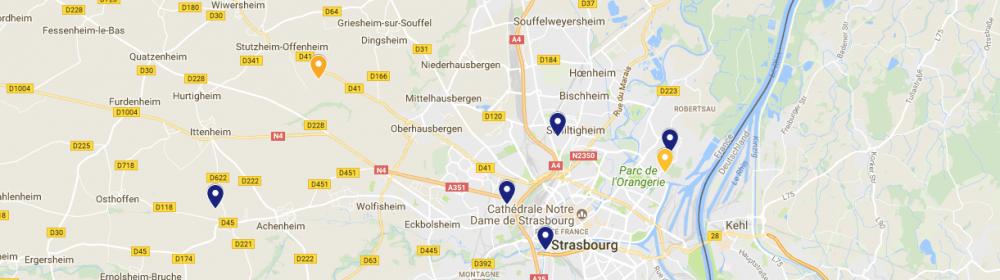 Image de la carte des décheteries de l'Eurométropole de Strasbourg